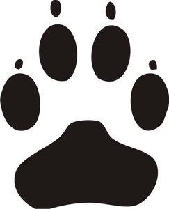 honden poot sticker area de nummer 1 in stickers