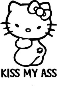 hello kitty kiss my ass